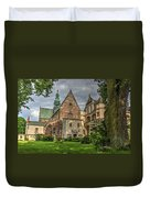 Cistercian Church From 12th And 13th Century In Wachock In Poland Duvet Cover