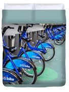 Citibike Rentals Nyc Duvet Cover