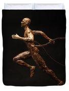 Olympic Runner Citius Altius Fortius  Duvet Cover