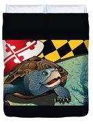 Citizen Terrapin Maryland's Turtle Duvet Cover