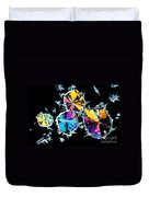 Citric Acid Crystals In Polarized Light Duvet Cover