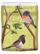Citron Songbirds 1 Duvet Cover by Debbie DeWitt