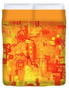 Citrus Circuitry Duvet Cover
