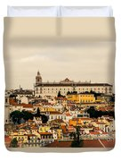 City And Cathedral Lisbon Portugal Duvet Cover