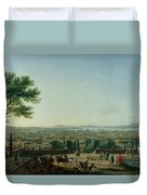 City And Port Of Toulon, 1756 Oil On Canvas Duvet Cover