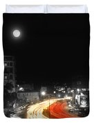 City And The Moon Duvet Cover