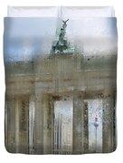 City-art Berlin Brandenburg Gate Duvet Cover by Melanie Viola