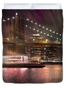 City-art Brooklyn Bridge Duvet Cover by Melanie Viola