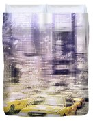 City-art Times Square I Duvet Cover