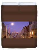 City At Night, San Francisco Duvet Cover