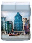 City - Baltimore Md - Harbor East  Duvet Cover
