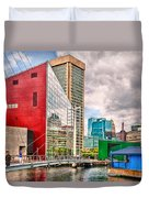 City - Baltimore Md - Harbor Place - Future City  Duvet Cover