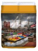 City - Baltimore Md - Modern Maryland Duvet Cover