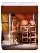 City - Chairs - Red Duvet Cover