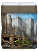 City - Chicago Il - Continuing A Legacy Duvet Cover