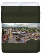 City Dock Panorama Duvet Cover