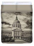 City Hall Antiqued Print Duvet Cover