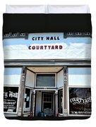 City Hall Courtyard Duvet Cover
