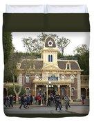 City Hall Main Street Disneyland Duvet Cover
