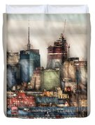 City - Hoboken Nj - New York Skyscrapers Duvet Cover