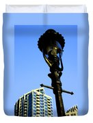City Lamp Post Duvet Cover by Karol Livote