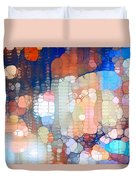 City Lights Urban Abstract Duvet Cover