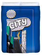 City Motel Las Vegas Duvet Cover