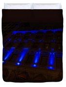 City Night Walks - Blue Highlights Facade Duvet Cover