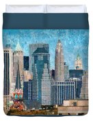 City - Ny - A Touch Of The City Duvet Cover