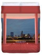 City Of Austin Framed Duvet Cover