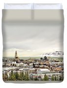 City Of Reykjavik  Duvet Cover