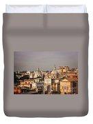 City Of Rome At Dusk Duvet Cover