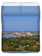 City Of St Augustine Florida Duvet Cover