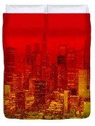 City On Fire Duvet Cover