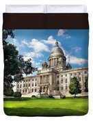 City - Providence Ri - The Capitol  Duvet Cover