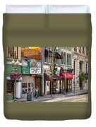 City - Roanoke Va - Down One Fine Street  Duvet Cover by Mike Savad
