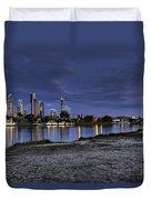 City Skyline At Night Duvet Cover