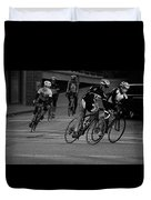 City Street Cycling Duvet Cover
