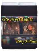 City Street Lights Duvet Cover