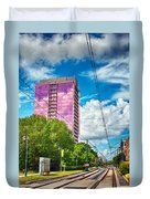 City Streets Of Charlotte North Carolina Duvet Cover