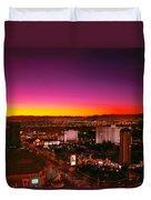 City - Vegas - Ny - Sunrise Over The City Duvet Cover