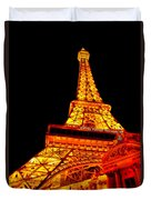 City - Vegas - Paris - Eiffel Tower Restaurant Duvet Cover