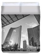 Citycenter - View Of The Vdara Hotel And Spa Located In Citycenter In Las Vegas  Duvet Cover by Jamie Pham