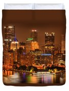 Cityscape Of Color Duvet Cover