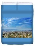 Cityscape Of Tuxtla Chiapas Duvet Cover