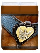 Civil War Horse Breastplate Duvet Cover