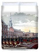 Civil War Philadelphia Zouave Corps Duvet Cover