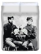Civil War Whiskey And Cards  C. 1863 Duvet Cover