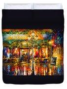 Clarens Misty Cafe Duvet Cover