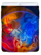 Clarity In The Midst Of Confusion Abstract Healing Art Duvet Cover